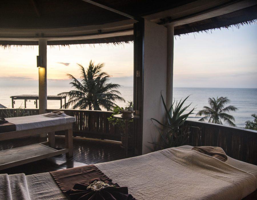Spa salon with beach view